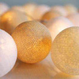 Șirag luminos Irislights Creamy White, 35 beculețe