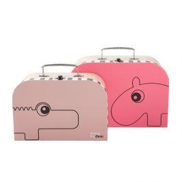 Set 2 valize mici Suitcase, roz