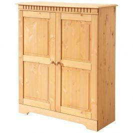 Dulap cu uși duble din lemn masiv de pin Støraa Candice,