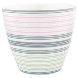 Pahar din ceramică Green Gate Mabel Latté, gri-roz