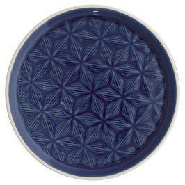Farfurie din ceramică Green Gate Kallia, diametru 20,5 cm, albastru închis