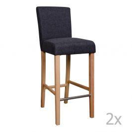 Set 2 scaune de bar House Nordic Boden, gri