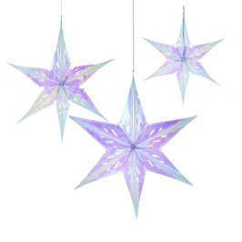 Set 3 decorațiuni din hârtie Talking Tables Stars