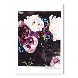 Poster Blooms on Black V, 30 x 42 cm