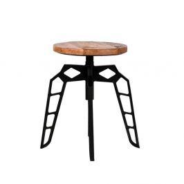 Scaun cu șezut din lemn de mango LABEL51 Pebble, negru