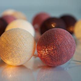 Șirag luminos Irislights Dusty Pink, 35 bile