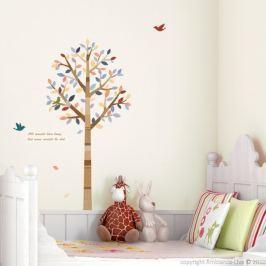 Autocolant Tree and birds