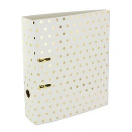Biblioraft Go Stationery Gold Polka Shimmer Cream, mare