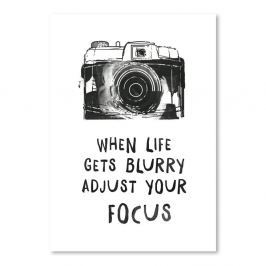Poster Americanflat When Life Gets Blurry, 30 x 42 cm