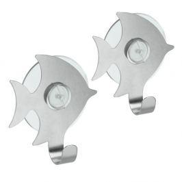 Set 2 cârlige cu ventuză Metaltex Pesce
