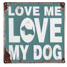 Set 4 decorațiuni perete Geese Love My Dog