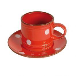 Cană cu farfurie Antic Line Cup Red
