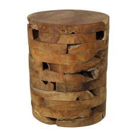 Taburet din lemn de tec HSM Collection Bata