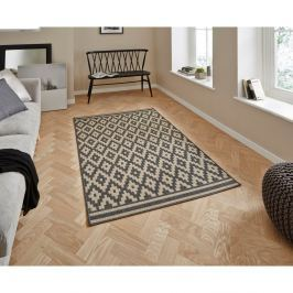 Covor Think Rugs Cottage, 160 x 220 cm, antracit
