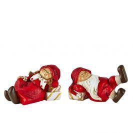 Set 2 figurine decorative de Crăciun KJ Collection Pixie II
