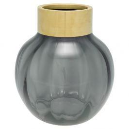 Vază din sticlă Green Gate, înălțime 19 cm, gri