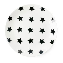 Farfurie ceramică  Miss Étoile Black Stars, ⌀ 17 cm
