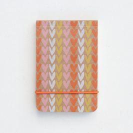 Caiet Caroline Gardner Hearts Stripe Little, portocaliu