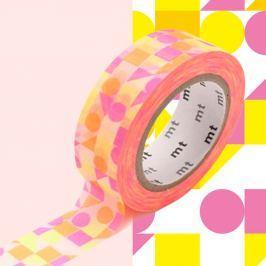 Bandă decorativă Washi MT Masking Tape Agnes, rolă 10 m