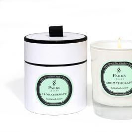 Lumânare parfumată Parks Candles London Aromatherapy, aromă de eucalipt și ienupăr, 45 ore