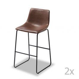 Set 2 scaune de bar Knuds Indiana, maro închis