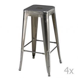 Set 4 scaune de bar Knuds Korona, gri