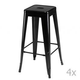 Set 4 scaune de bar Knuds Korona, negru