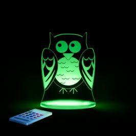 Lampă de veghe cu LED pentru copii Aloka Owl