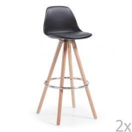 Set 2 scaune bar La Forma Stag, negru