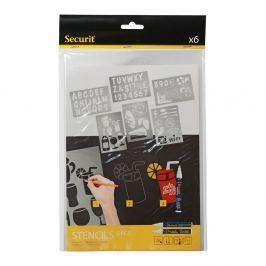 Set 5 șabloane Securit® Liquid Stencil Art