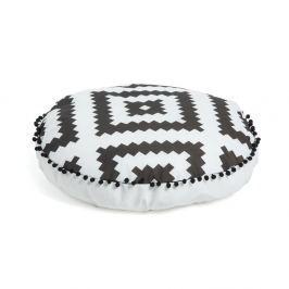 Puf La Forma All, Ø 60 cm, alb - negru