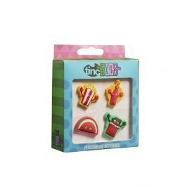Set 4 insigne decorative pentru penar sau ghiozdan TINC Yummy