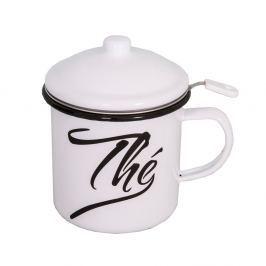 Cană smălțuită cu capac și sită pentru ceai Antic Line