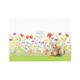Set 2 suporturi pentru farfurie Apolena Easter Eggs With Rabbit, 33 x 45 cm