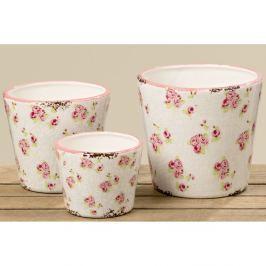 Set 3 ghivece din ceramică Boltze Rosie
