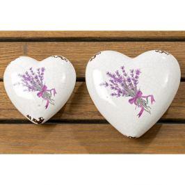 Set 2 decorațiuni din ceramică Boltze Lova Heart
