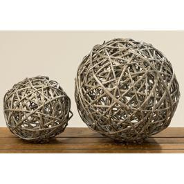 Set 2 decorațiuni din lemn Boltze Balls