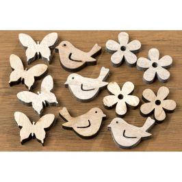 Set 36 decorațiuni din lemn Boltze Confetti