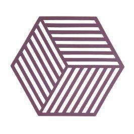 Suport din silicon pentru vase fierbinți Zone Geo, violet
