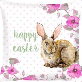 Față de pernă Apolena Rabbit Wishes Happy Easter, 43 x 43 cm