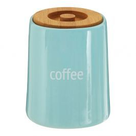 Recipient pentru cafea cu capac din lemn de bambus Premier Housewares Fletcher, 800 ml, albastru