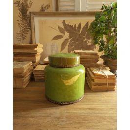 Decorațiune din ceramică Orchidea Milano, 21 cm, verde