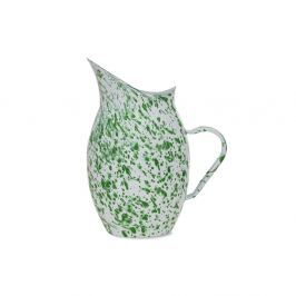 Carafă emailată Garden Trading Kewsick, 2,8 l, alb-verde