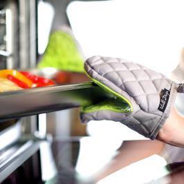 Mănușă de bucătărie din bumbac cu silicon Vialli Design, verde - gri