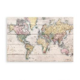 Tablou din lemn Really Nice Things Worldmap, 40 x 60 cm