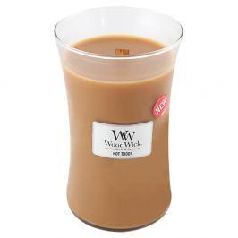 Lumânare parfumată WoodWick, aromă de scorțișoară, nucșoară și caramel, 130 ore