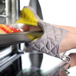 Mănușă de bucătărie din bumbac cu silicon Vialli Design, galben - gri