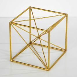 Decoraţiune Thai Natura Geometric, 20 x 20 cm, auriu