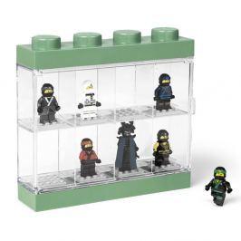 Cutie pentru 8 minifigurine LEGO®, alb - verde