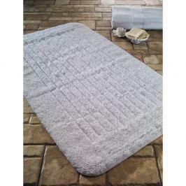 Covoraș de baie din bumbac Confetti Bathmats Cotton Stripe, 60 x 100 cm, alb